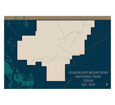 Guadalupe Mountains National Park Map