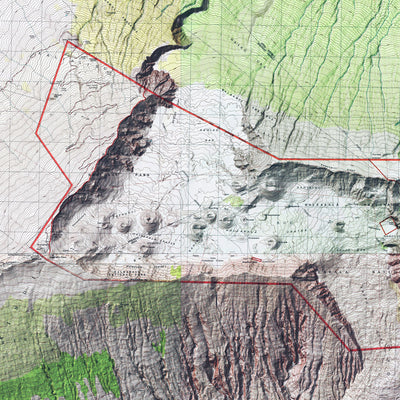 Haleakala Relief Map