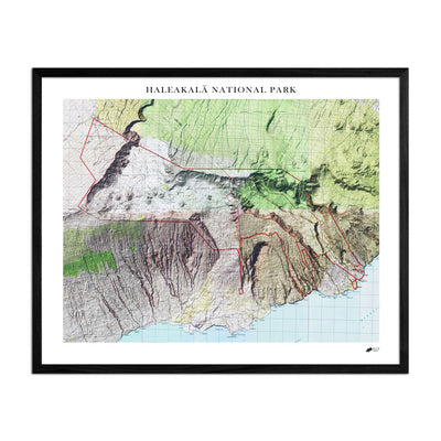 Relief Map of Haleakala National Park