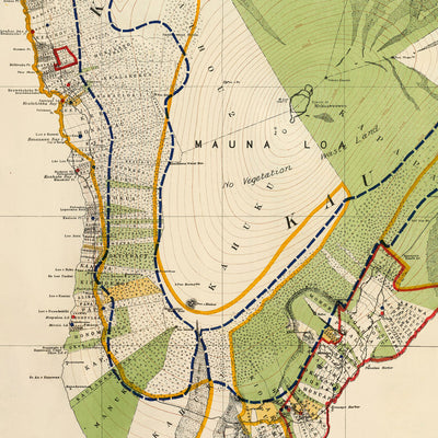 Hawaii Island 1901 Map