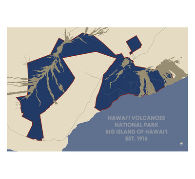 Hawai'i Volcanoes National Park Map