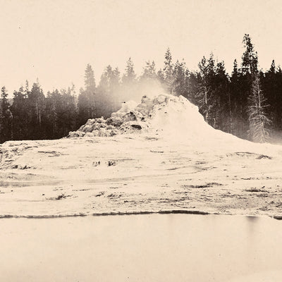 Hot Spring and Castle Geyser, Yellowstone 1873