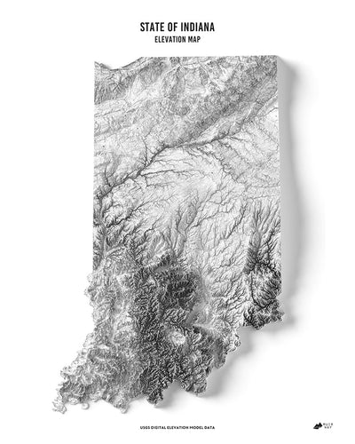 Indiana 3D Map