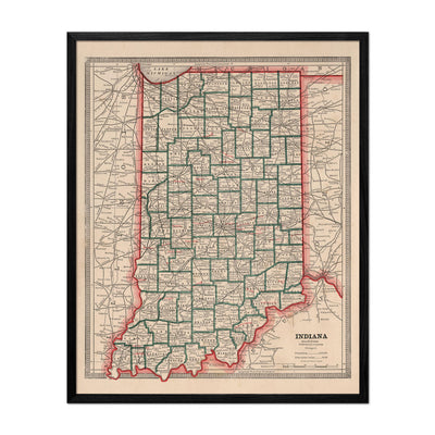 Indiana 1883 Map