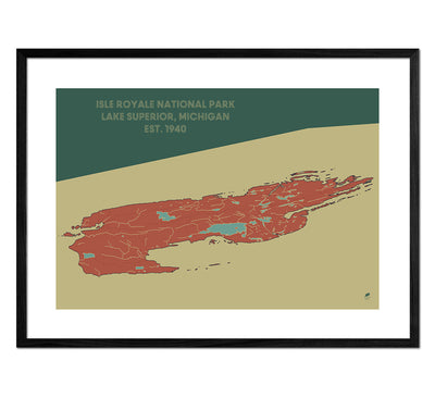 Isle Royale National Park Map