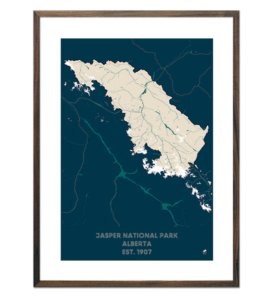 Jasper National Park Map