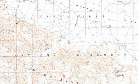 Joshua Tree National Park 1963 USGS Map