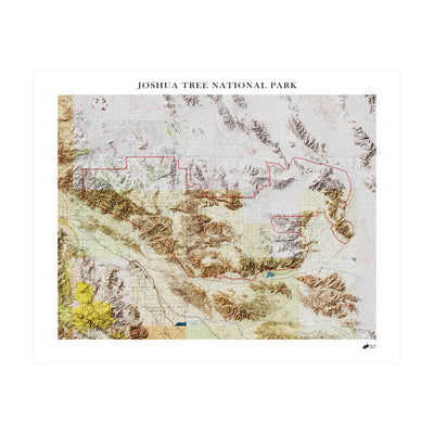 Relief Map of Joshua Tree National Park