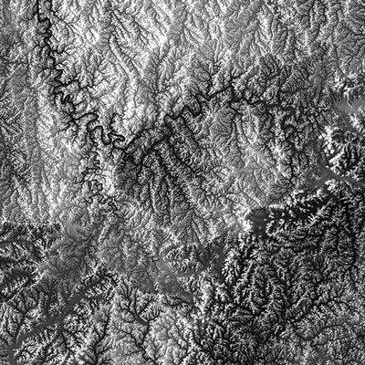 Kentucky Elevation Map
