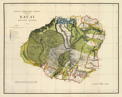 Kauai Island 1903 Map