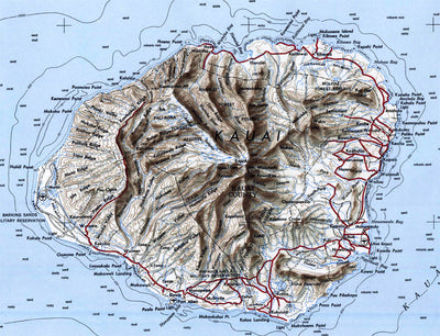 Kauai, HI 1951 USGS Map