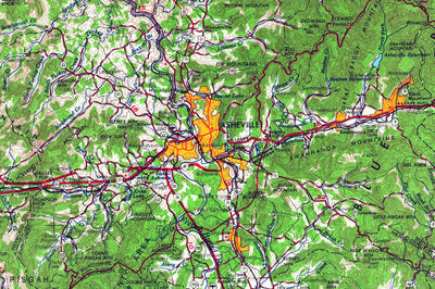 Knoxville, TN 1966 USGS Map