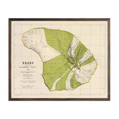 Vintage Map of Lanai from 1906