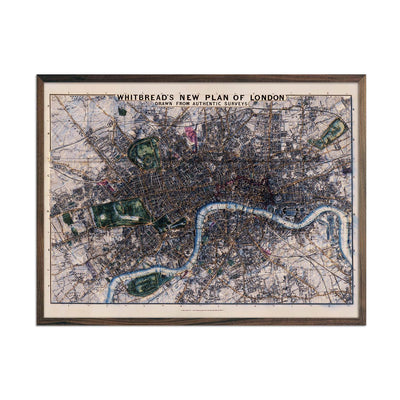 London-Whitbread's New Plan 1853 Relief Map