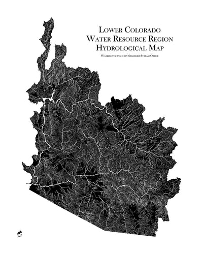 Lower Colorado Regional Hydrological Map