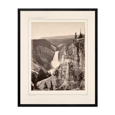 Lower Falls of the Yellowstone, Distant View, Yellowstone 1873