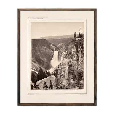 Photograph of Lower Falls of the Yellowstone, Distant View