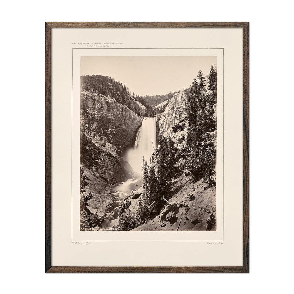 Photograph of Lower Falls of the Yellowstone, Near View