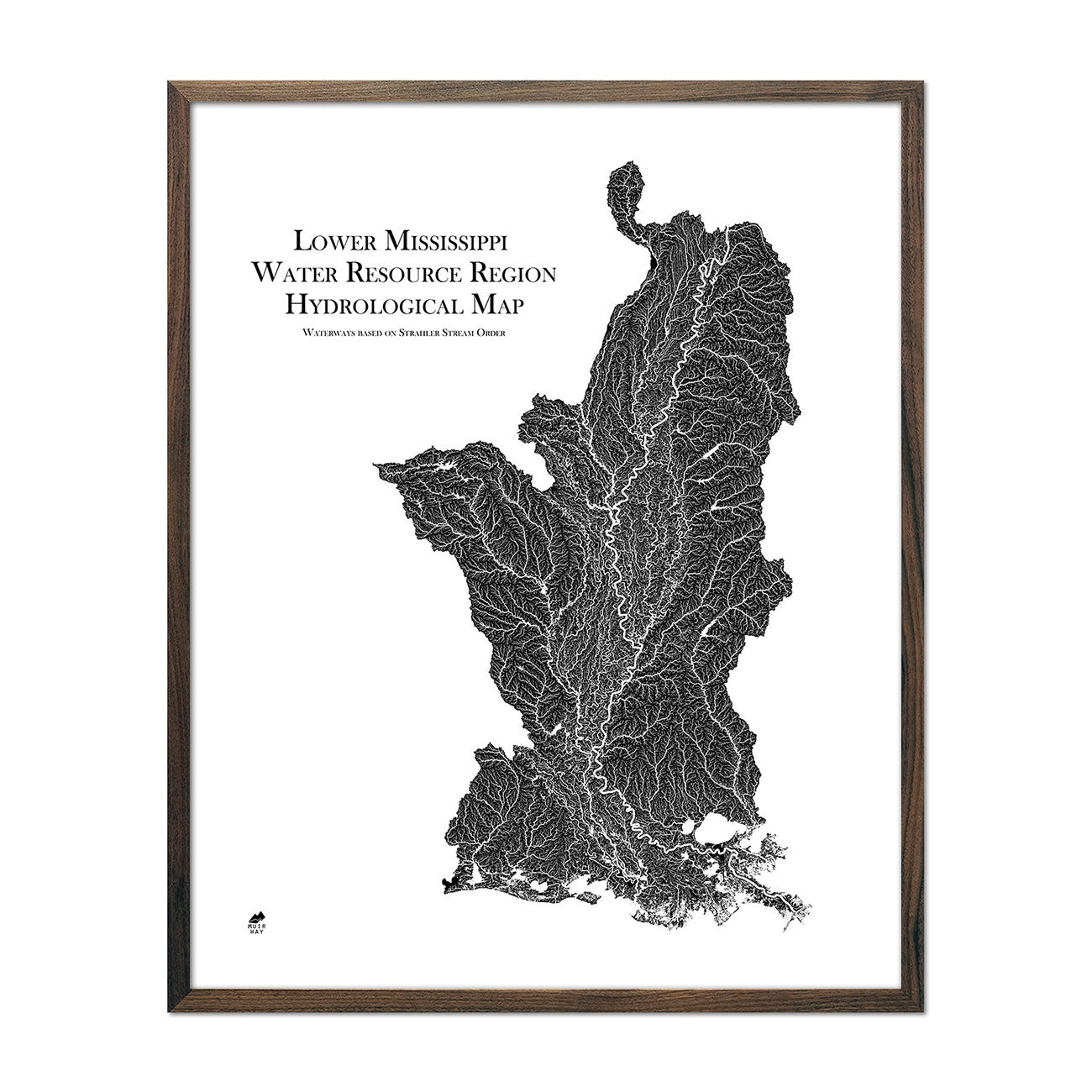 Lower Mississippi Regional Hydrological Map