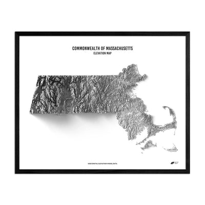 Massachusetts Relief Map
