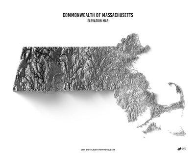 Massachusetts 3D Map