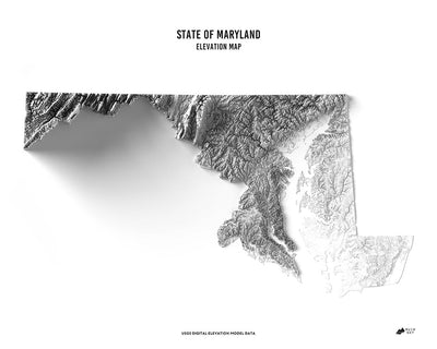 Maryland 3D Map