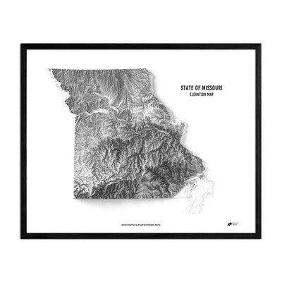 Missouri Relief Map