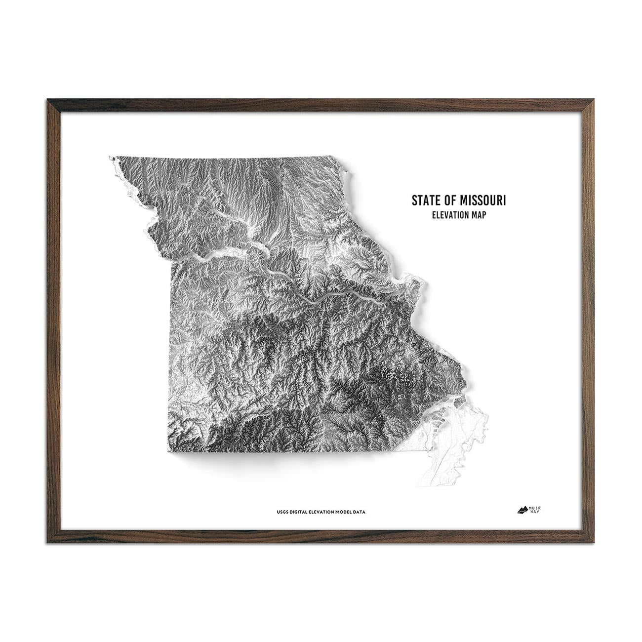 Missouri Elevation Map
