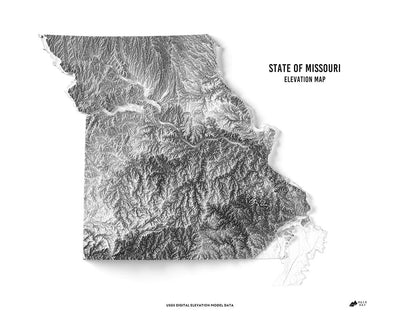 Missouri 3D Map