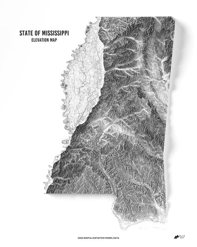 Mississippi 3D Map