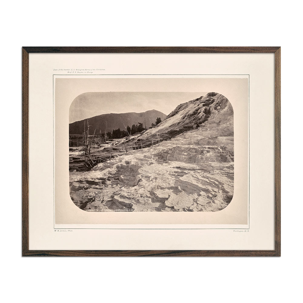 Photograph of Mammoth Hot Springs on Gardiner's River
