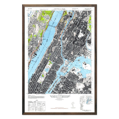 Manhattan, NY 1947 USGS Map