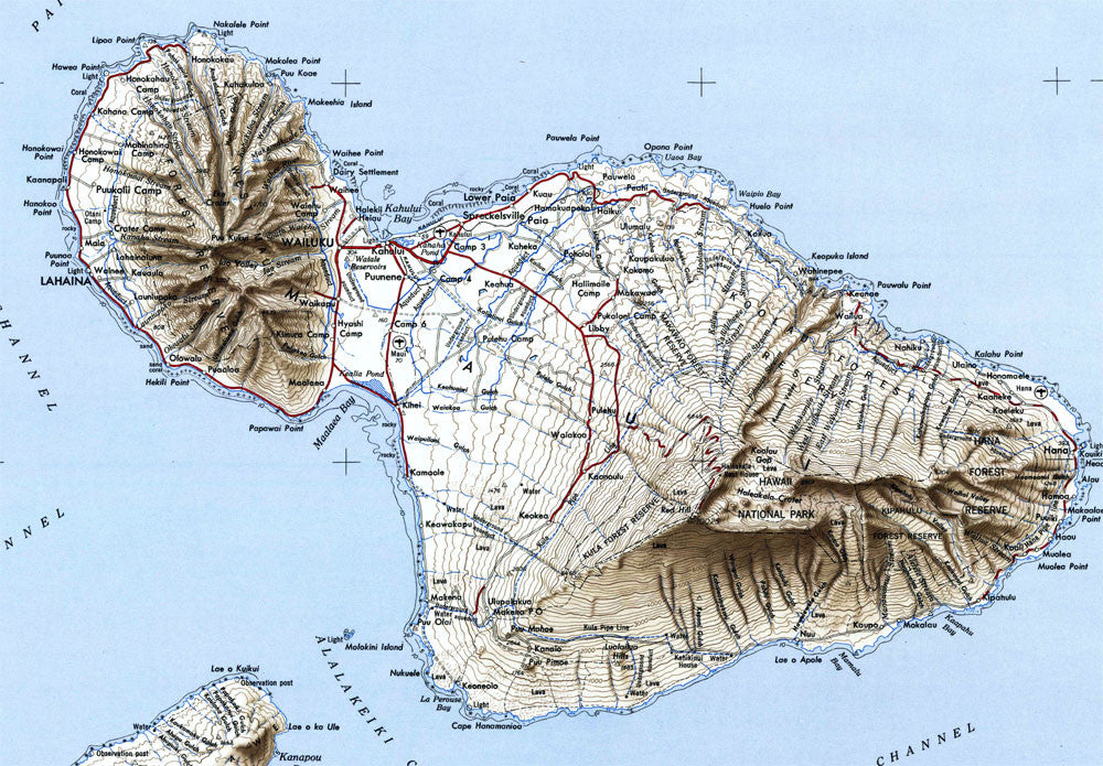 Topographic Map Of Maui.Maui Hi 1951 Usgs Map Muir Way
