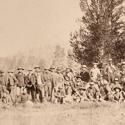 Meeting of the USGS in the Lower Firehole Basin, Yellowstone 1873