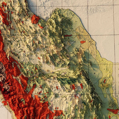 Mexico 1921 Relief Map