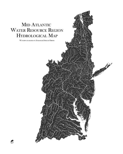 Mid Atlantic Regional Hydrological Map