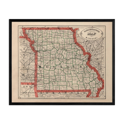 Missouri 1883 Map
