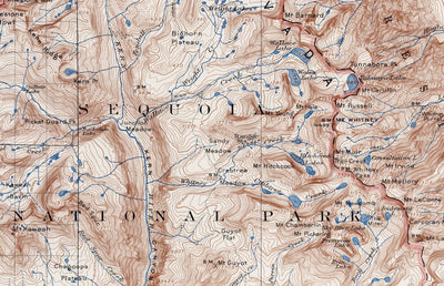 Mt. Whitney 1937 USGS Map