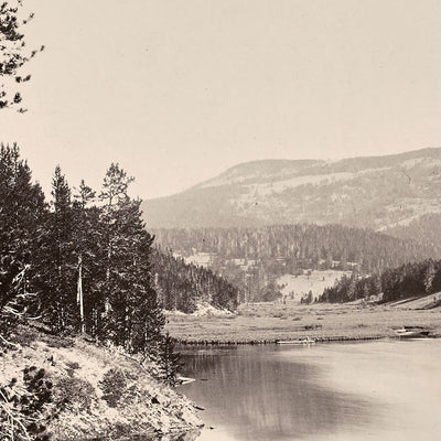 Mystic Lake, Source of East Gallatin, Yellowstone 1873