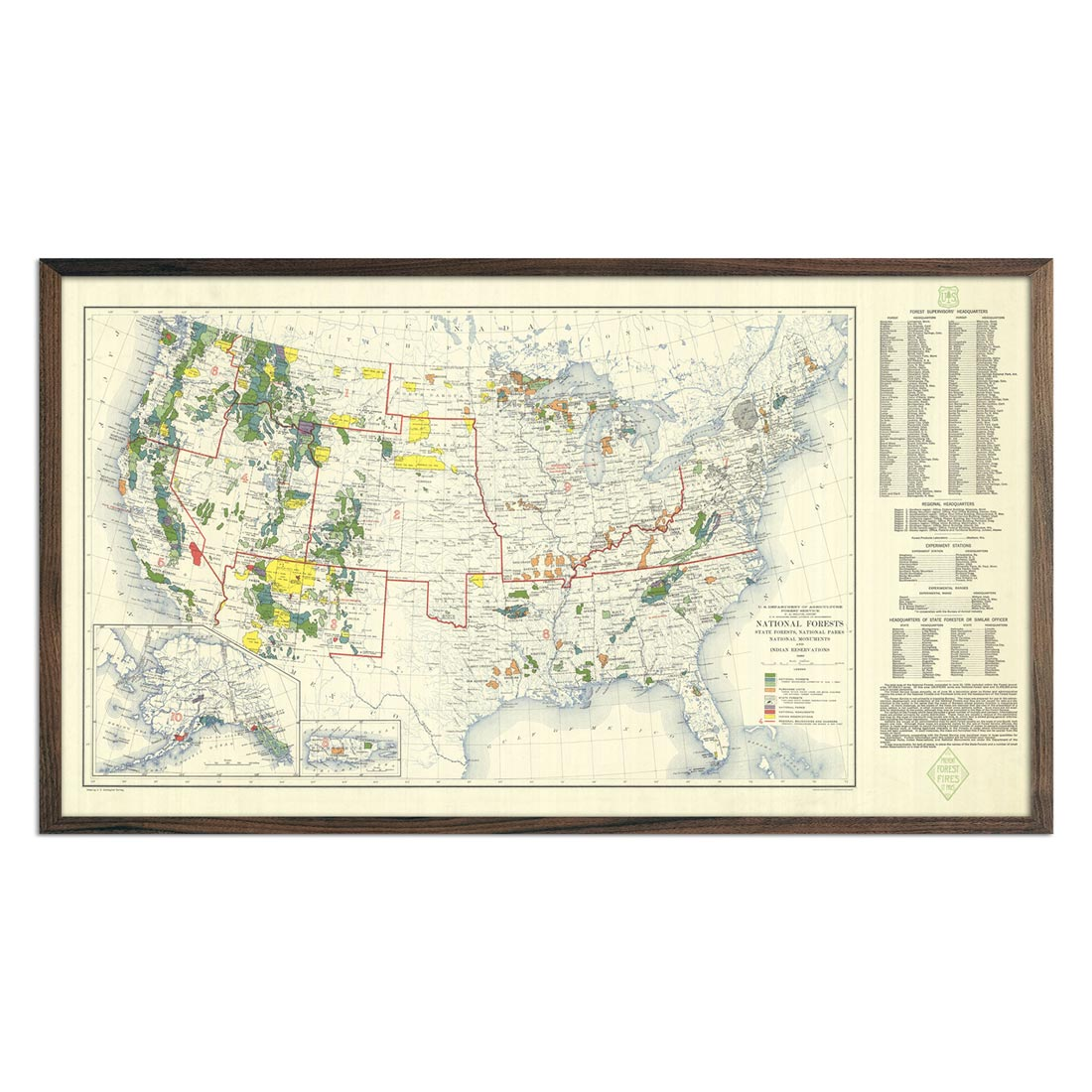National Forests Map 1936