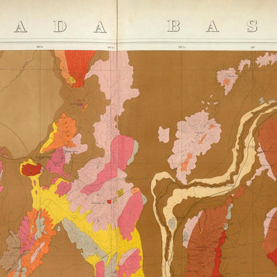 Nevada Basin 1876 Geological Map