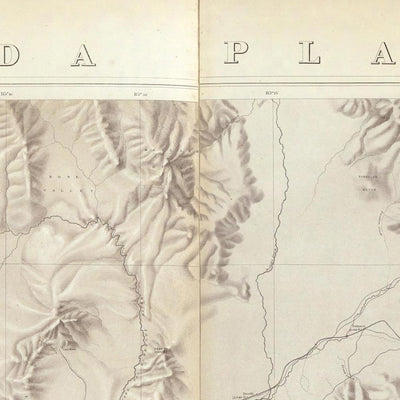 Nevada Plateau 1876 Topographic Map