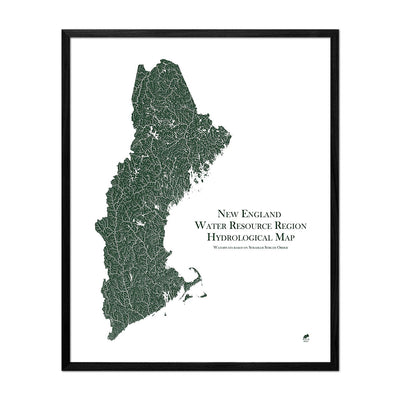 New England Regional Hydrological Map