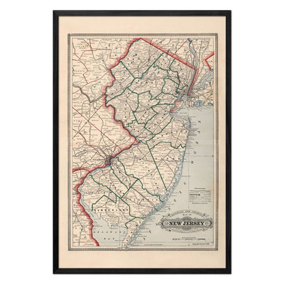 New Jersey 1883 Map