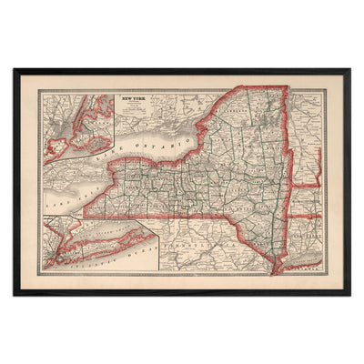 New York 1883 Map