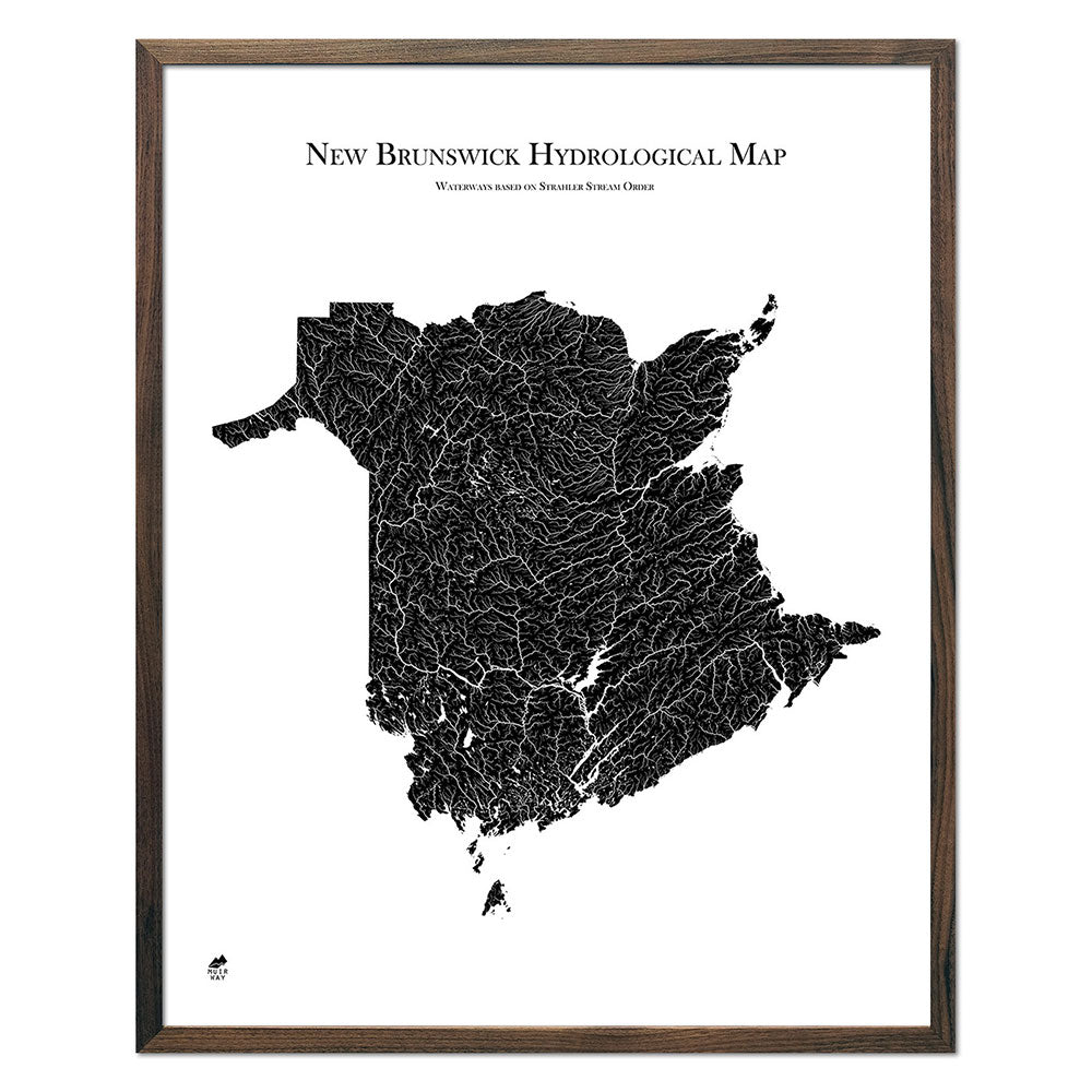 New-Brunswick-Hydrology-Map-black-24x30-walnut.jpg