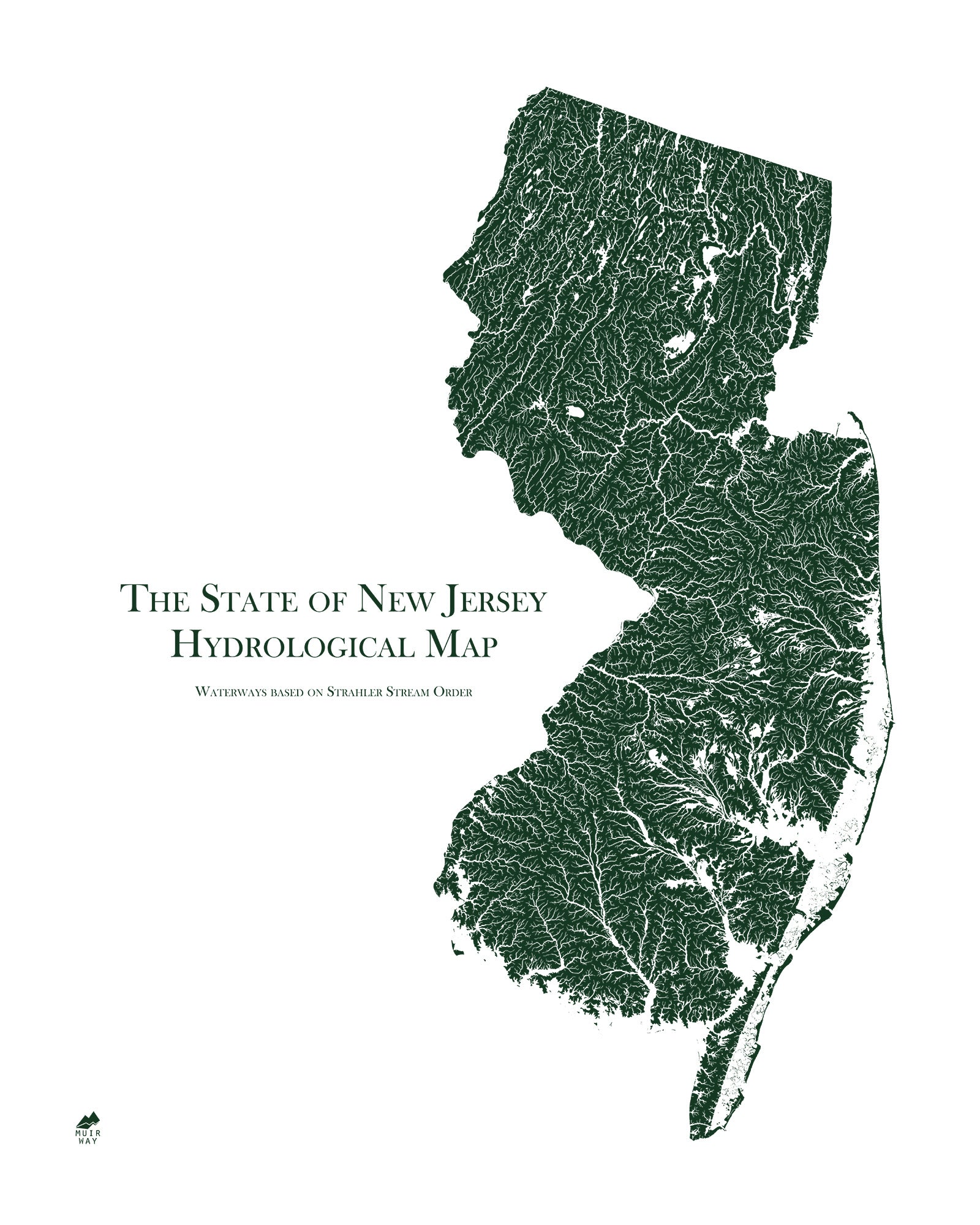 New Jersey Hydrological Map