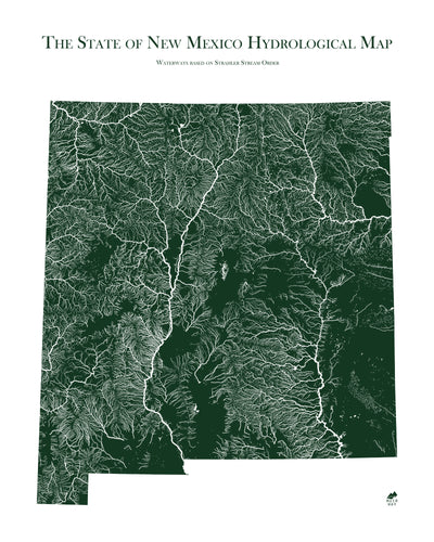 New Mexico Rivers Map