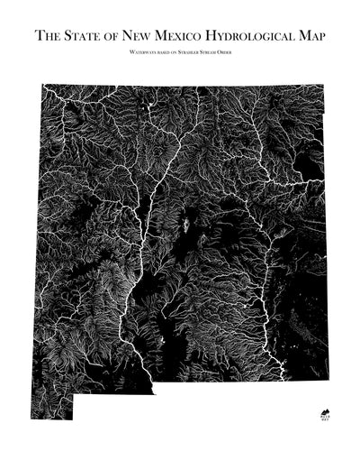 New Mexico Hydrological Map