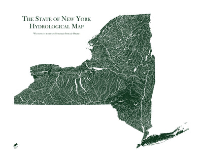 New York Rivers Map